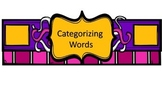 Categorize Words