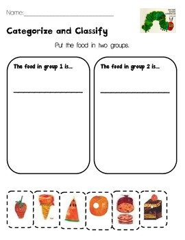 categorize and classify eric carle differentiated by whitney nicole. Black Bedroom Furniture Sets. Home Design Ideas