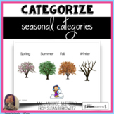 Categorize by Season BOOM Cards distance learning speech therapy