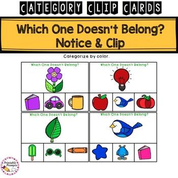 Categorizing Activity - Clip Cards