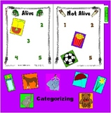 Categorizing - Alive and Not Alive - File Folder Board Activity