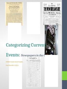 Categorizing Current Events:  Newspapers in the Classroom