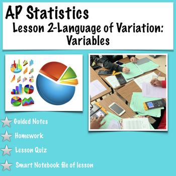 AP Statistics - Categorizing Data (Same lesson as Intro to Experimental Design)