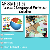AP Statistics. Lesson 2-Language of Variation: Variables