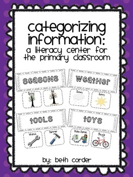 Categorizing Information: A Literacy Center for the Primary Classroom