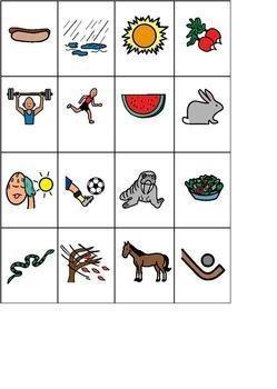 Categorizing & Initial Consonants Cut & Paste; Boardmaker Symbols for Special Ed