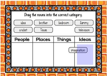 Categorizing Nouns - Grammar Rocks! - BOOM Cards