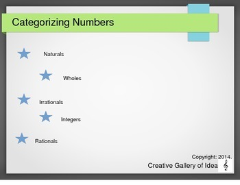 Categorizing Numbers