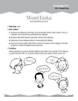 Categorizing (Ten-Minute Activities)