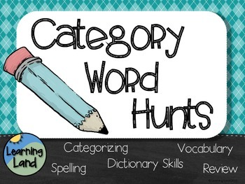 Categorizing Word Hunts