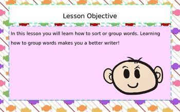 Categorizing Words