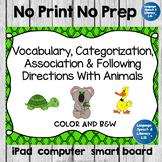 FREE Categorizing and Following Directions With Animals