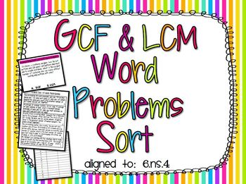 Categorizing and Solving GCF and LCM Word Problems