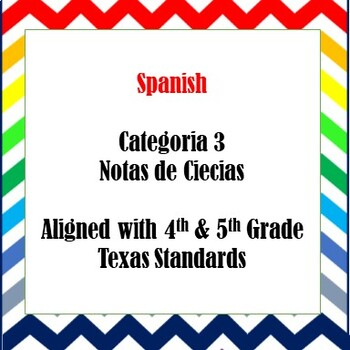 Category 3 Spanish Science Notes