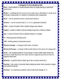 Category 3 vocabulary ~ chemistry
