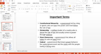 Category 4. Organization and Function of Government Quiz & Study Set