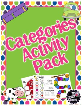 #Nov2017SLPmusthave Categories Activity Pack
