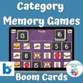 Category Based Memory Games Boom Cards™ Speech Language Therapy Categories