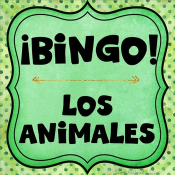 Category Bingo: Animal Flashcards & Games {Spanish Version}