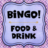 Category Bingo: Food and Drink Flashcards & Games - $2 DEAL