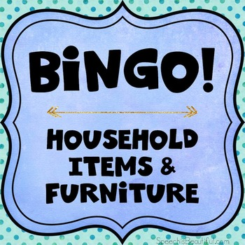 Category Bingo: Household Items Flashcards & Games - $2 DEAL