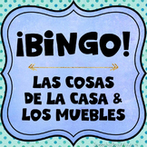 Category Bingo: Household Items Flashcards & Games {Spanis