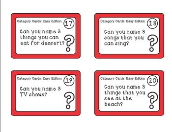 Category Task Cards - K-1st Grades {common core aligned}