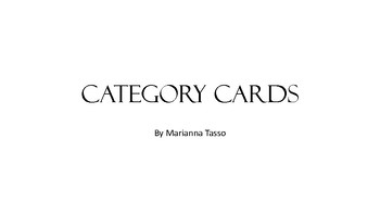 Category Cards for Speech Therapy