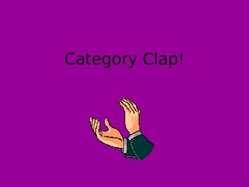Category Clap PowerPoint Game