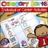 Category Sorts / Concept Sorts and Phonics Printables & Center Activities