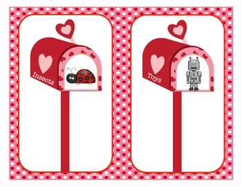 Category Correspondence: A Valentine Sorting Activity