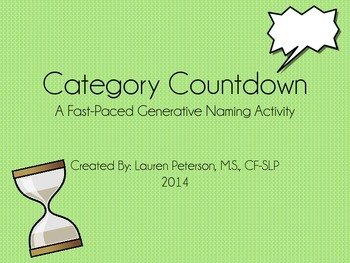 Category Countdown: A Rapid Generative Naming Activity