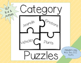Category/Describing Puzzle with Sentence Strips for Speech