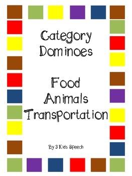 Category Dominoes - Transportation/Food/Animals