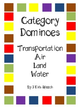 Category Dominoes - Air/Land/Water Transportation