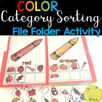 Category File Folder Activity - Colors