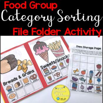 Category File Folder Activity - Food Groups
