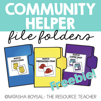 Community Helper File Folder