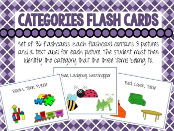 Category Flash Cards for Emergent Readers. Convergent Categorization