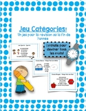 Category Game - End of the Year - Fin de l'anée - Jeu