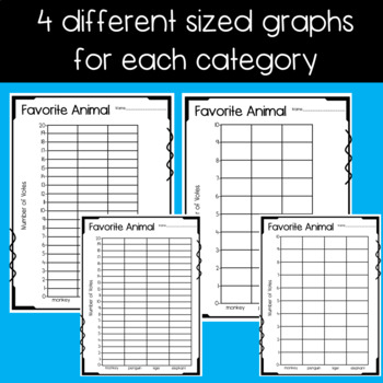 Category Graphing Sheets for Primary Grades