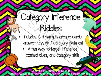 Category Inference Riddles
