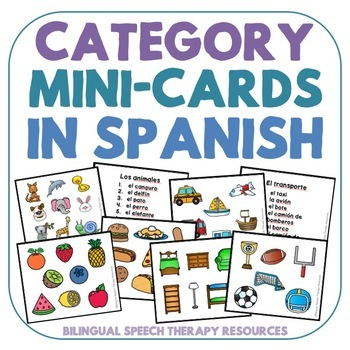 Category Mini-Cards in Spanish
