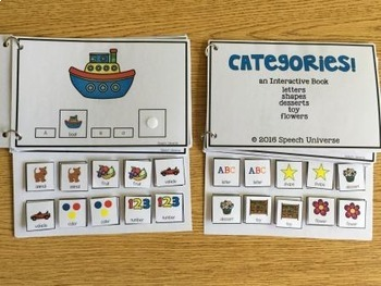 Category File Games, Interactive Books, and No-Prep Worksheets