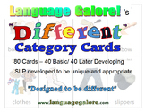 """Different"" Category Practice Cards - Set of 80"