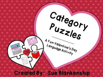 Category Puzzles:  A Fun Valentine's Day Language Activity