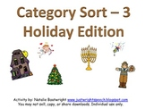 Category Sort - 3: Holiday Edition