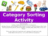 Category Sort Activity for Classroom, Therapy or Homework