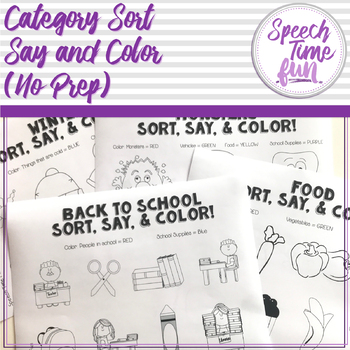 Category Sort Say and Color