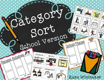 Category Sort (School Words)